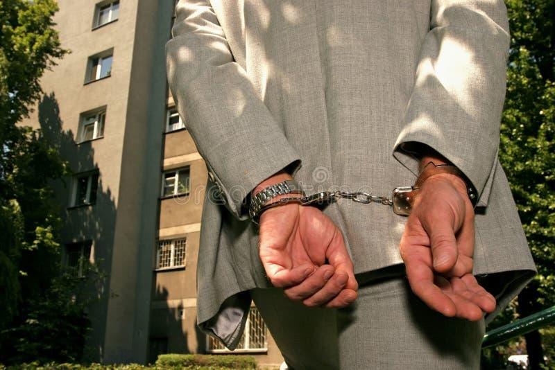 arresterad man arkivbild