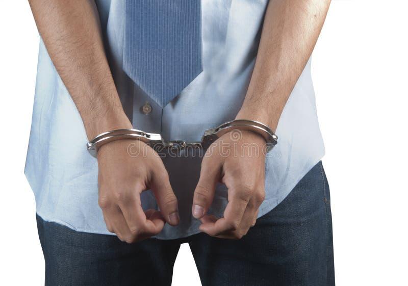 arresterat arkivfoto