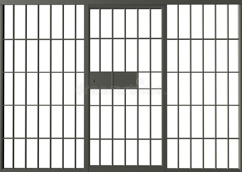 Arrestfängelset bommar för illustrationen stock illustrationer