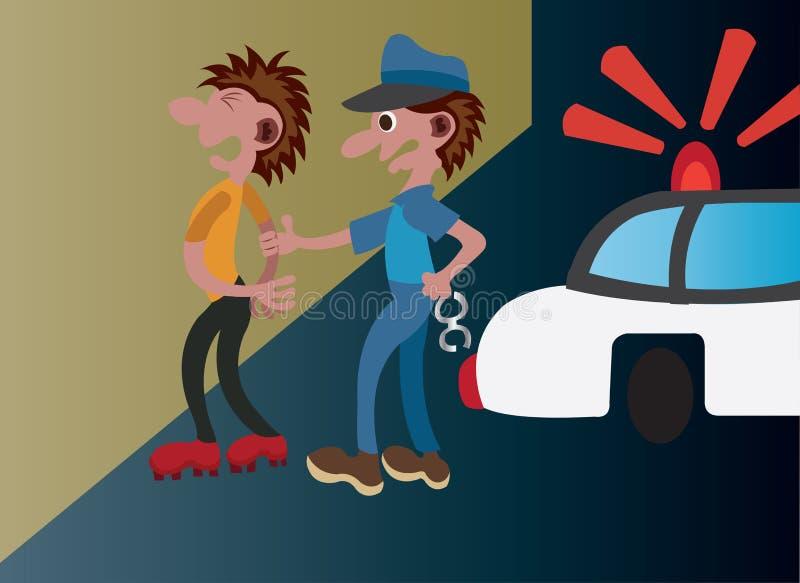 Arresti della via illustrazione di stock