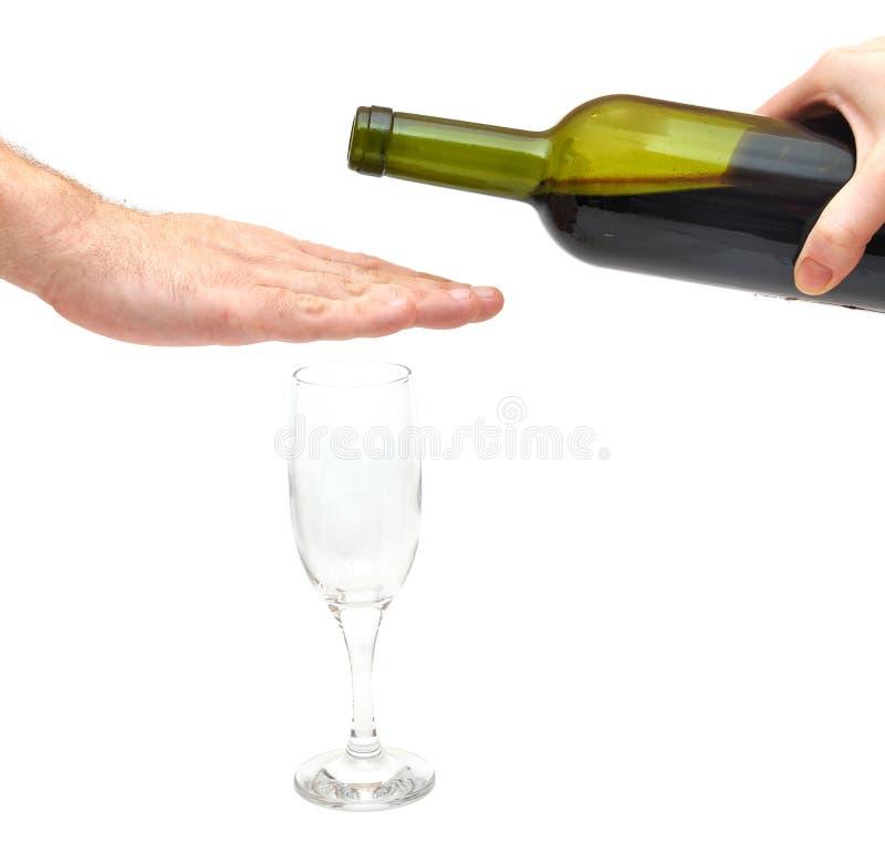 Arresti il concetto di alcolismo fotografie stock