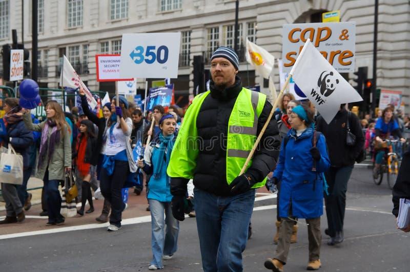 Arresti la protesta di caos di clima immagine stock