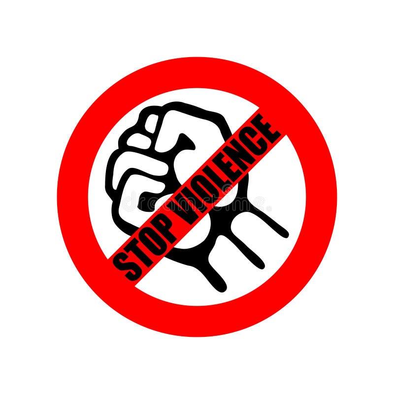 Arresti la violenza Violenza di proibizione del segno royalty illustrazione gratis