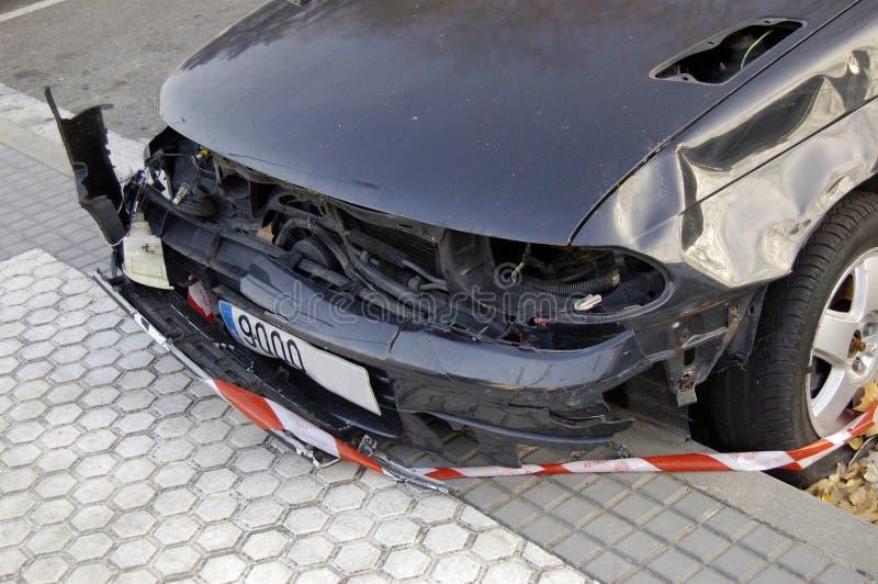 Arresto della parte anteriore dell'automobile di incidente immagine stock libera da diritti