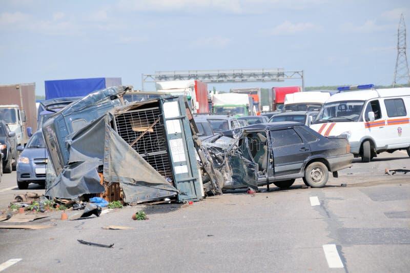 Arresto di incidente stradale fotografia stock libera da diritti