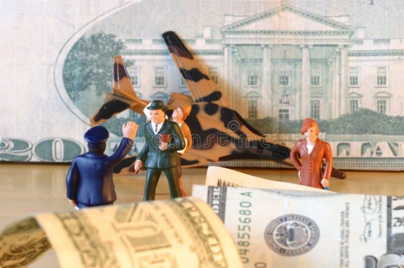 Arresto, dollari, finanze, confusione & perdita fotografia stock libera da diritti