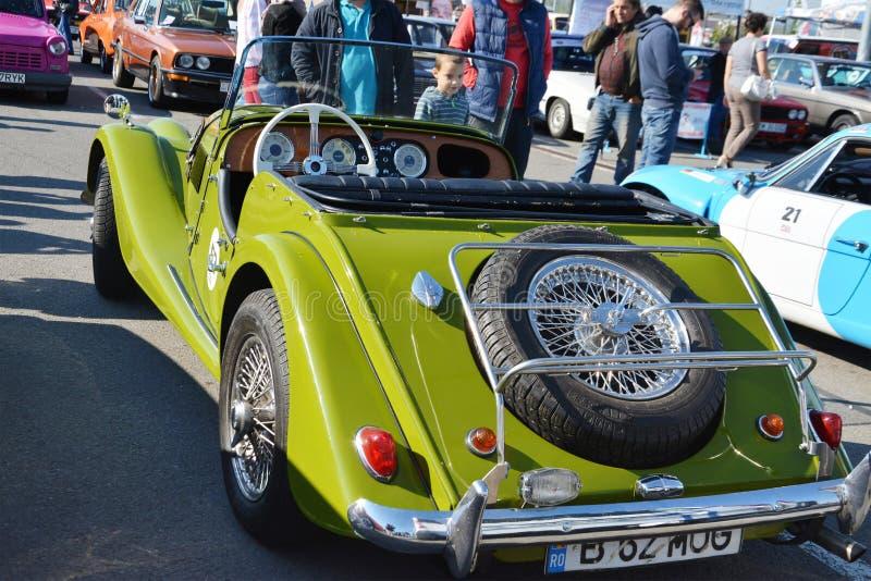 Arrière classique de voiture de roadster de Morgan Plus 4 photographie stock libre de droits
