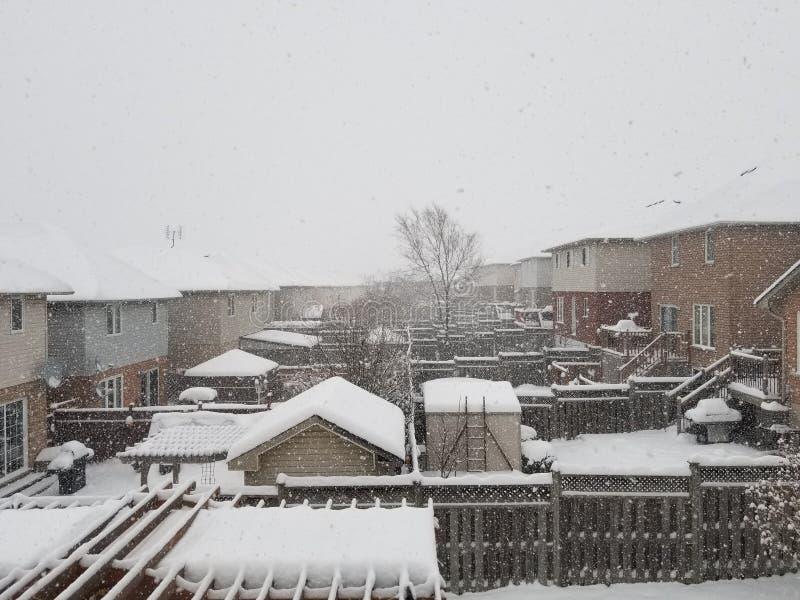 Arrière-cours d'hiver photos libres de droits
