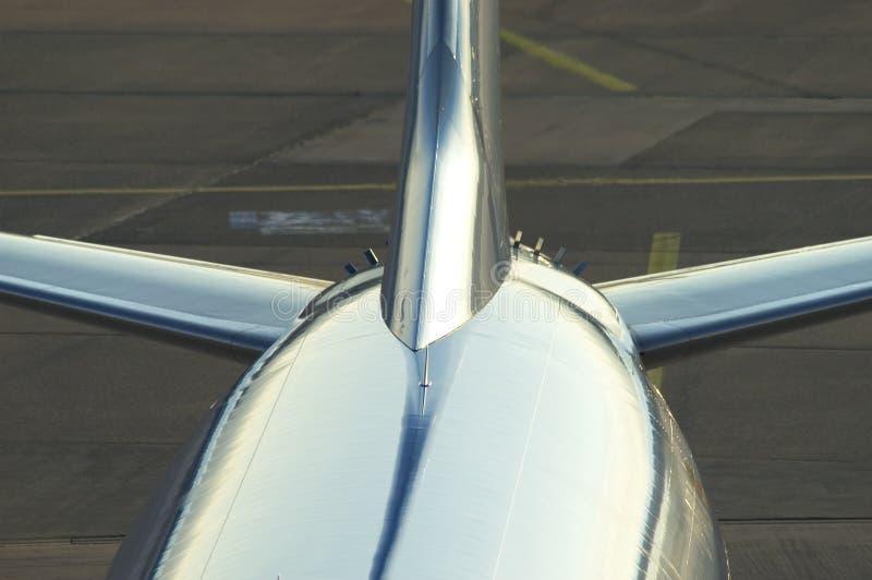 Arrière d'avion image stock