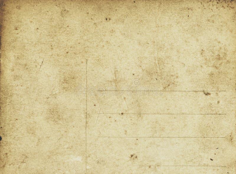 Arrière d'une carte postale antique photos stock