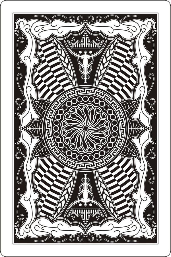 Arrière de la carte de jeu 60x90 millimètre illustration libre de droits