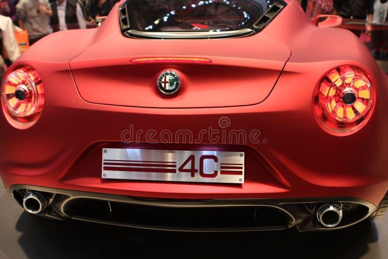 Arrière de prototype d'Alfa Romeo 4C photos stock
