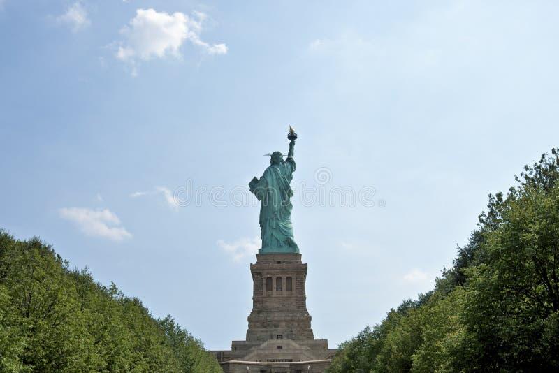 Arrière de statue de la liberté photo libre de droits
