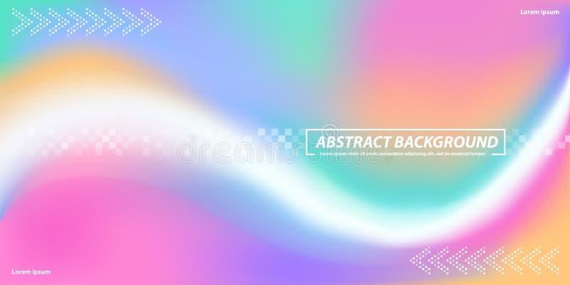 Arrière-plan abstrait avec courbes couleur grillage avec des formes de points illustration de vecteur