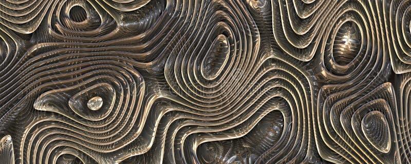 Arrière-plan abstrait ondulé 3d illustration image stock