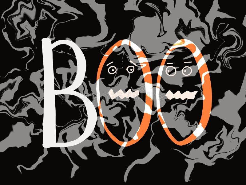 Arrière-plan avec Boo Concept d'Halloween illustration stock
