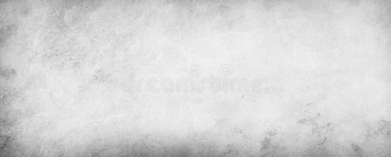 Arrière-plan blanc et gris avec une texture grise et une bordure noire, vieux papier vintage illustration en couleur pâle neutre illustration libre de droits