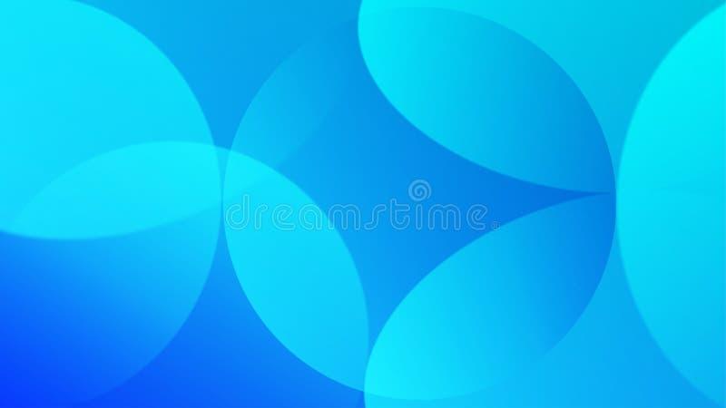 Arrière-plan dégradé bleu avec courbes et cercles Texture géométrique illustration de vecteur