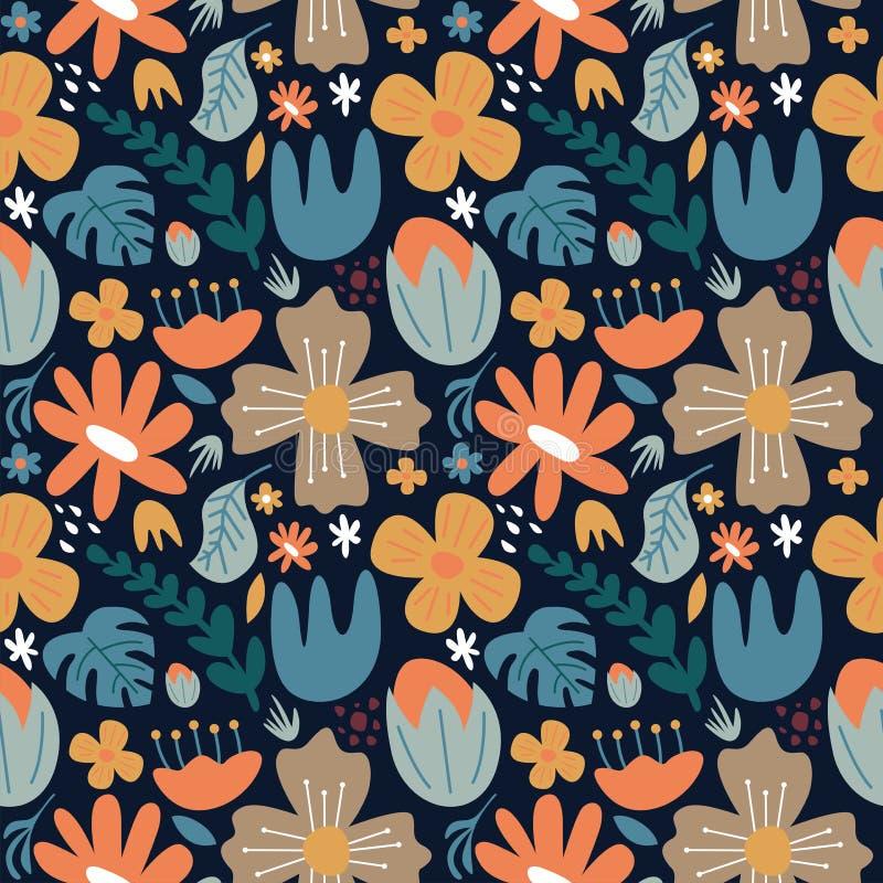 Arrière-plan de la fleur de gribouillis sans pareille image stock