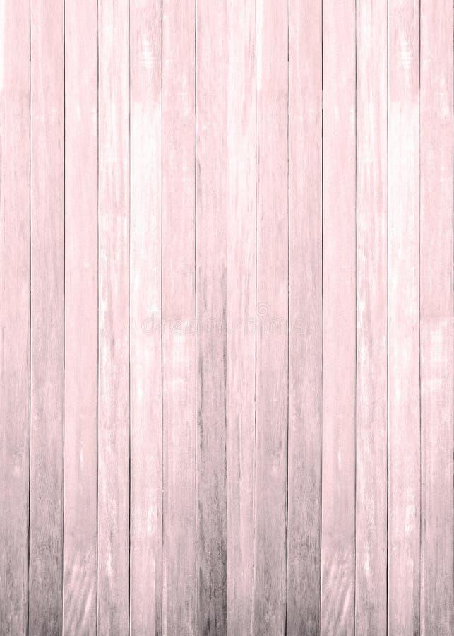 Arrière-plan de texture en bois blanc rose mur peint en pâte feuilletée à motif en plinthe; tablette de grains en carton gris au- photographie stock