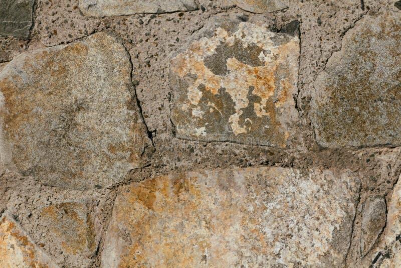 Arrière-plan de texture de paroi en béton Pierres naturelles Décoration de la façade du bâtiment Plâtre décoratif Extérieur de la photographie stock libre de droits