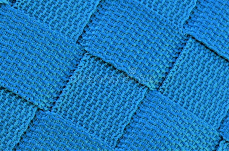 Arrière-plan en toile bleue, carrés images stock