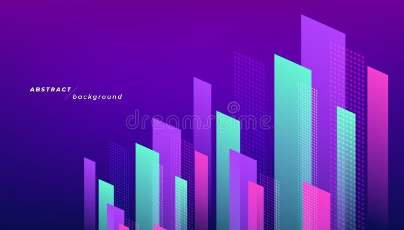 Arrière-plan géométrique moderne abstrait Composition des formes dynamiques illustration stock