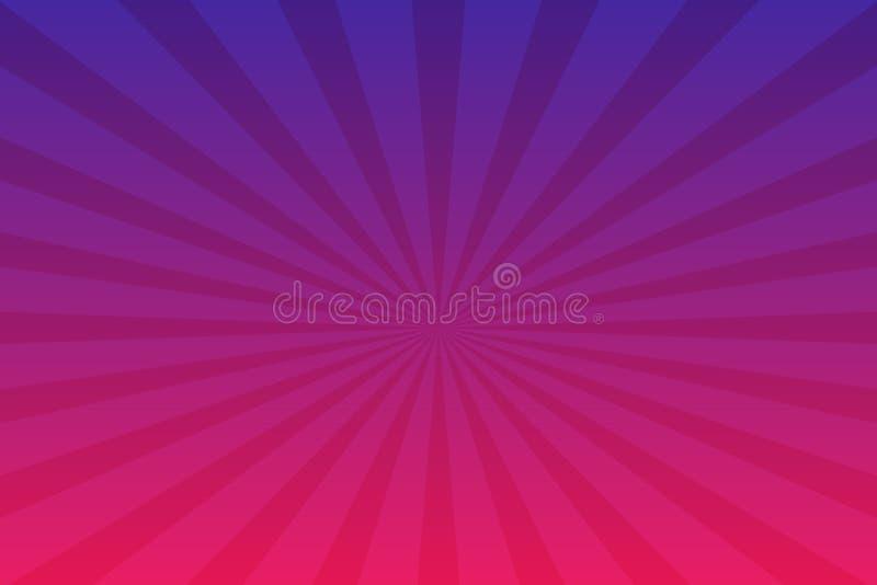 Arrière-plan radial rétro violet spirale abstraite violette et rose, starburst Comics fond Illustration vectorielle illustration de vecteur