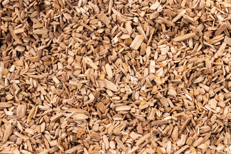 Arrière-plan sous forme de copeaux de bois brun clair images libres de droits