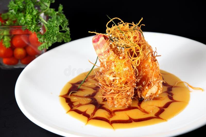 Download Arrières De Langoustine Frits Photo stock - Image du nourriture, saumons: 8670870