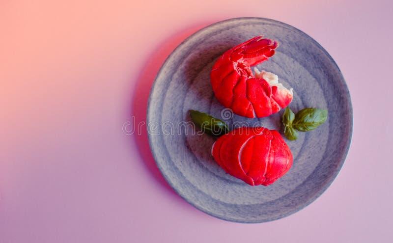 Arri?res de langoustine cuits photo libre de droits