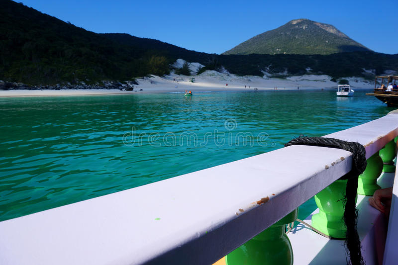 Arrial do Cabo. One of the Arrial do Cabo amazing beaches. warm crystal water and white sand. only way to get here is by ship royalty free stock photography