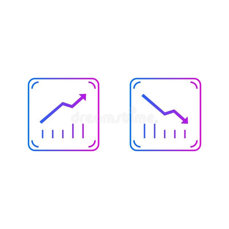 Arriba y abajo de gráficos ilustración del vector