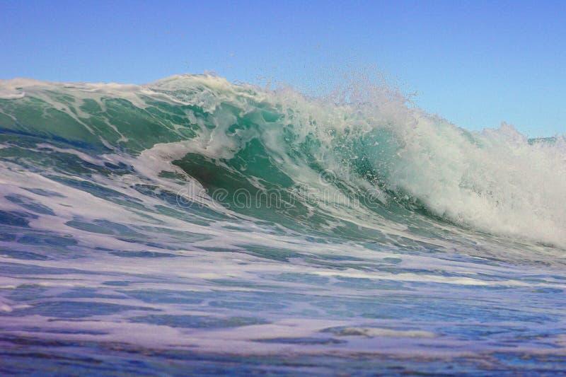 Arricciatura dell'onda fotografia stock