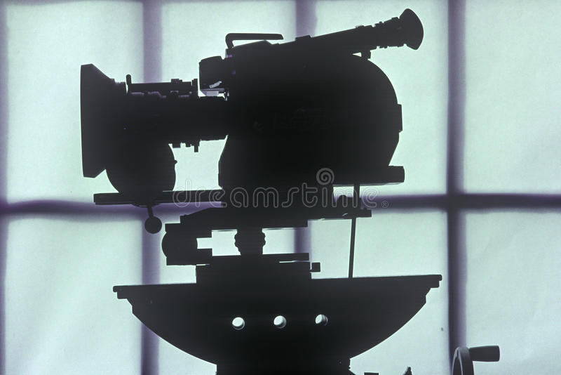 An Arriflex 16mm motion picture camera for Hollywood film industry royalty free stock photo