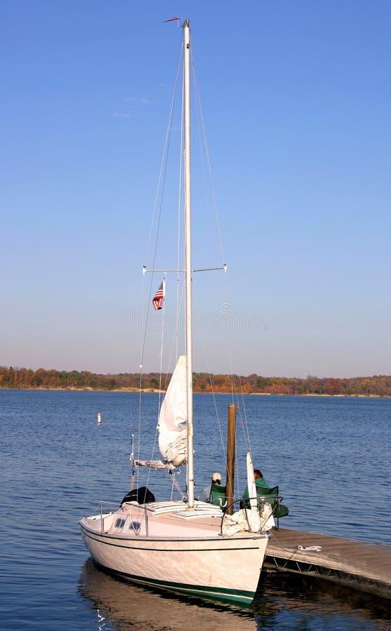 Arrimage de bateau à voile image libre de droits