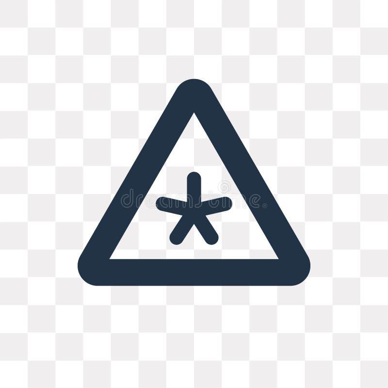 Arrisque o ícone do vetor isolado no fundo transparente, transporte do risco ilustração stock