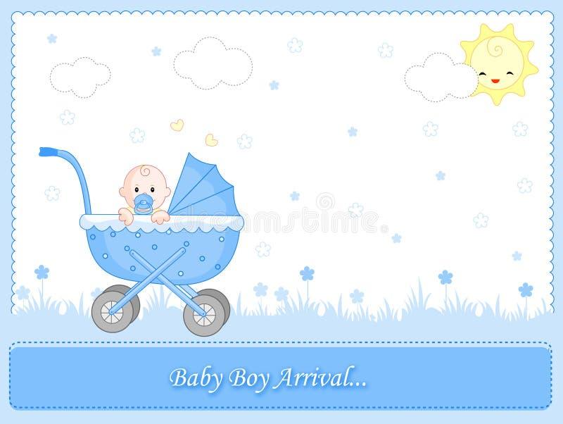 Arrivée de bébé illustration de vecteur