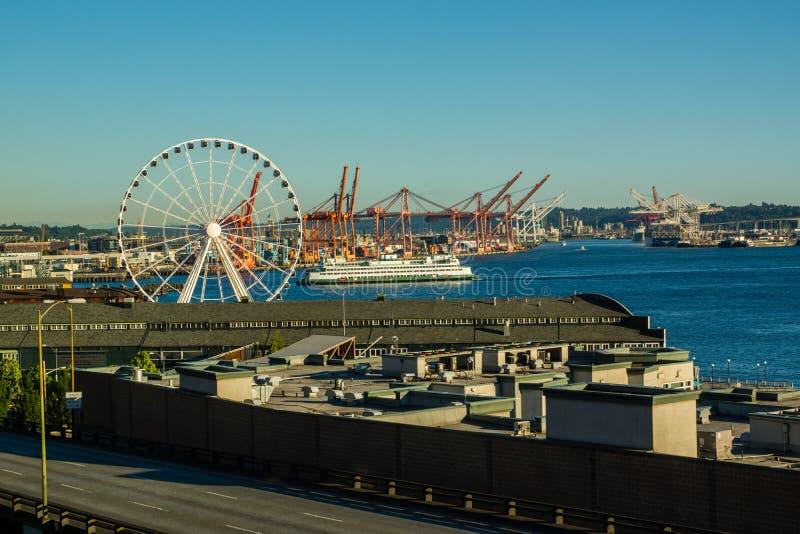 Arrivée de ferry de Seattle image libre de droits