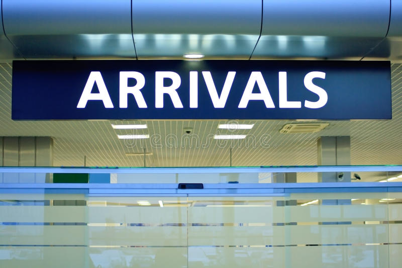 Arrival stock photography