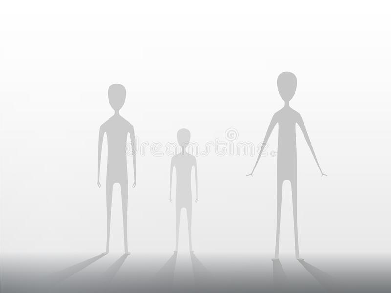 Arrival of aliens on Earth. Extraterrestrials on a light background. EPS 10. Arrival of aliens on Earth. Extraterrestrials on a light background. Vector EPS 10 vector illustration