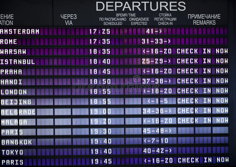Download Arrival/Departure Board stock photo. Image of destinations - 13832178