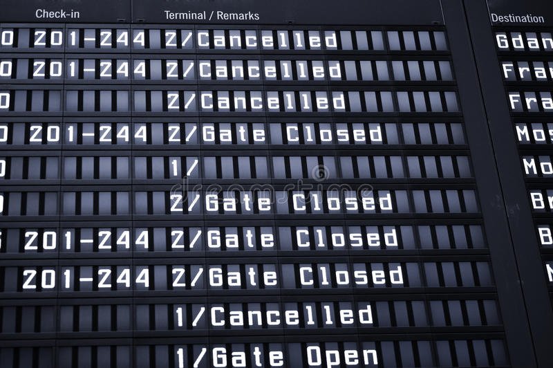 Download Arrival Departure Board Royalty Free Stock Image - Image: 14173576