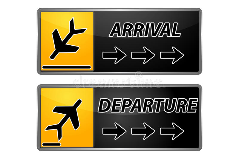 Arrival and departure tags vector illustration