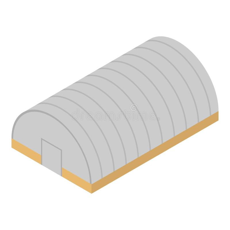Arrival hangar icon, isometric style stock illustration