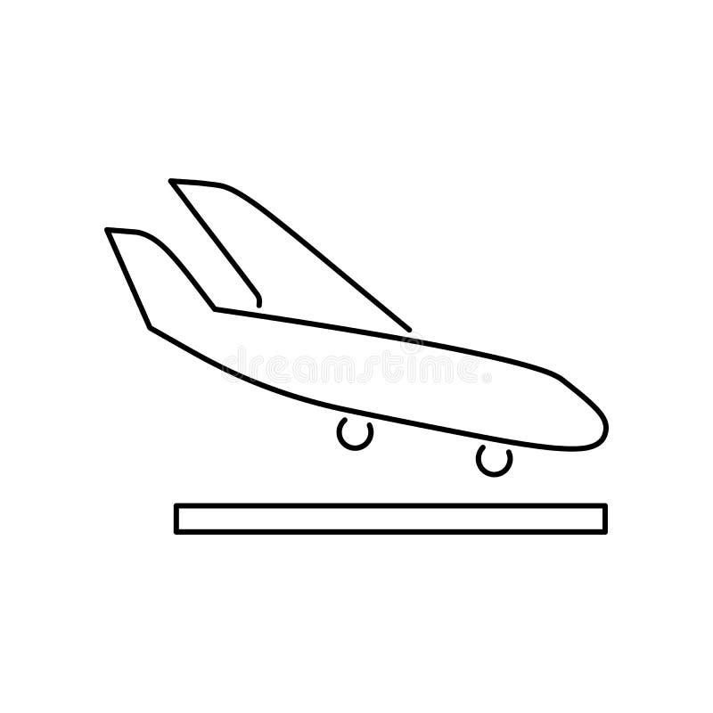 Arrival landing plane icon simple flat vector illustration.  vector illustration