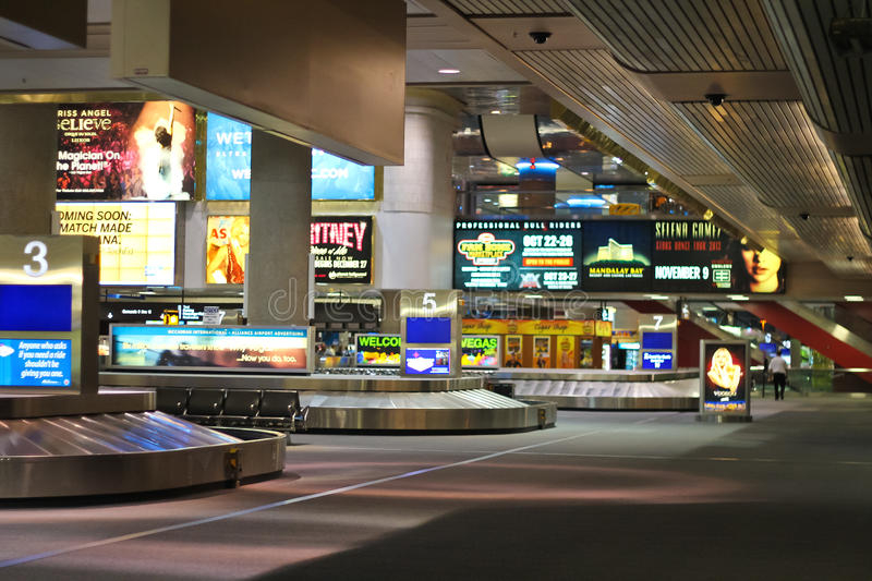 Arrival lounge in the airport McCarran . Las Vegas, Nevada royalty free stock images