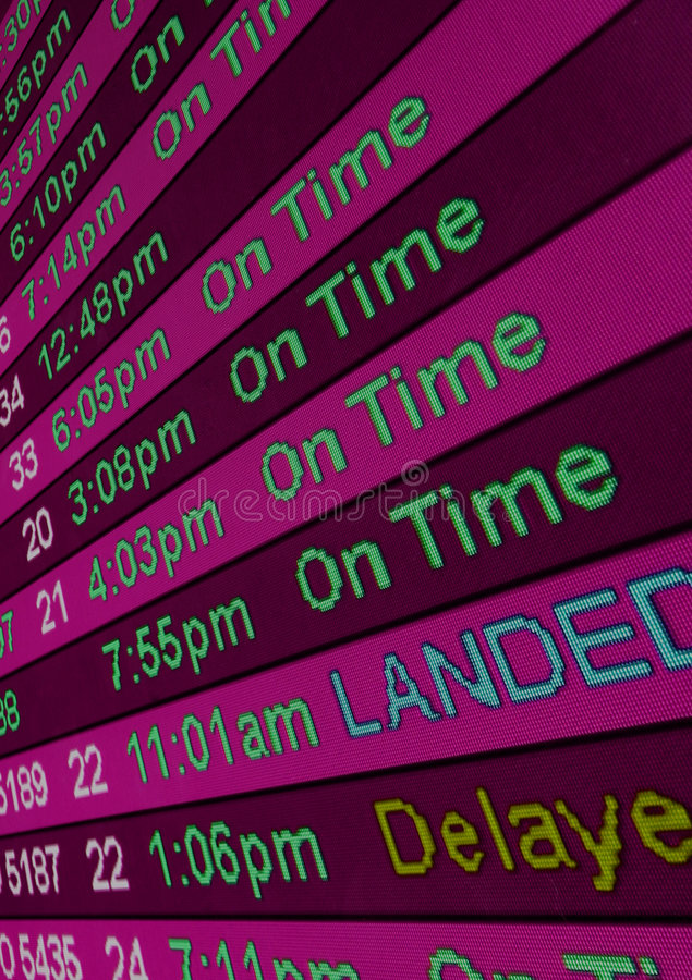 Arrival Times stock photography