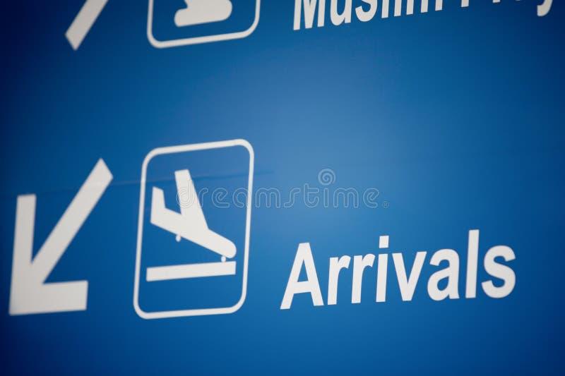 Arrivals stock photo