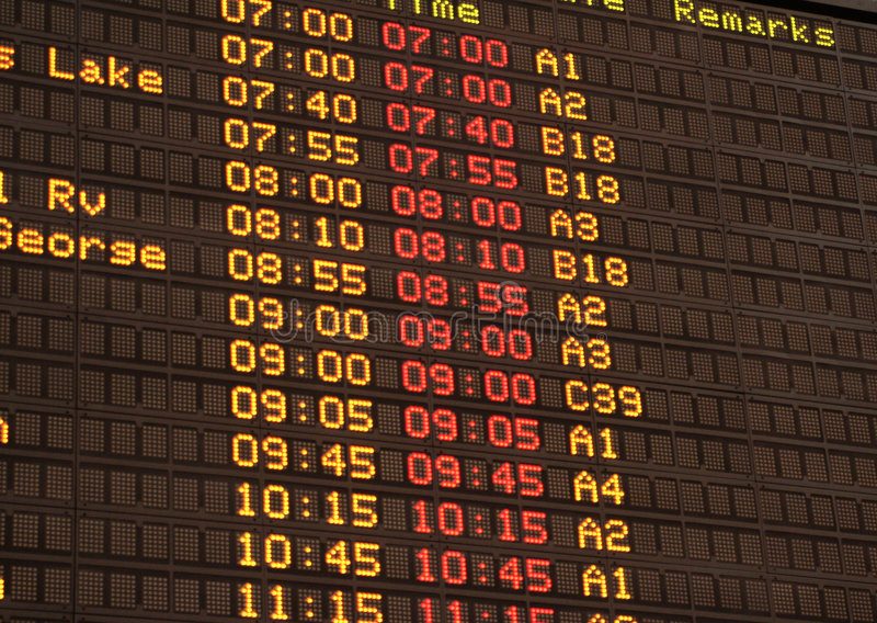 Arrivals board royalty free stock image